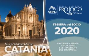 Tessera del Socio Pro Loco 2020-fronte