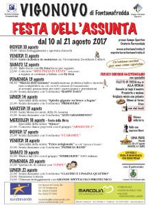 Festa dell'Assunta 2017 @ Vigonovo di Fontanafredda (Pn) | Vigonovo | Friuli-Venezia Giulia | Italia