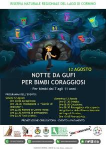 Notte da gufi per bimbi coraggiosi @ Riserva Naturale del Lago di Cornino (Ud)
