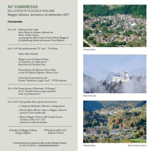 94° Congresso della Società Filologica Friulana @ Centro Polifunzionale R.Treu di Moggio Udinese (Ud) | Moggio di Sotto | Friuli-Venezia Giulia | Italia