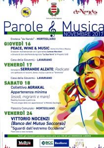 Parole & Musica @ Palestra Comunale di Mortegliano | Mortegliano | Friuli-Venezia Giulia | Italia