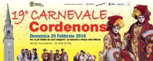 19^ ed. Carnevale di Cordenons @ Cordenons (PN) | Cordenons | Friuli-Venezia Giulia | Italia
