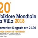 FOLK IN VILLA: VENTESIMA EDIZIONE PER LA SERATA D'INCONTRO TRA CULTURE