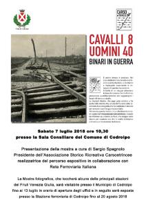 Cavalli Otto, Uomini Quaranta. Binari in Guerra @ Codroipo (UD) | Codroipo | Friuli-Venezia Giulia | Italia
