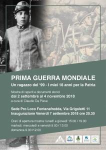 Prima Guerra Mondiale - Un Ragazzo del '99: i miei 18 anni per la Patria @ Fontanafredda (PN) | Fontanafredda | Friuli-Venezia Giulia | Italia