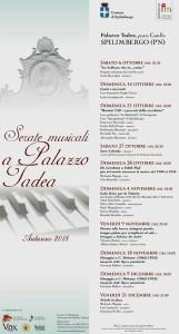 Serate Musicali a Palazzo Tadea. Autunno 2018 @ Spilimbergo (PN) | Spilimbergo | Friuli-Venezia Giulia | Italia