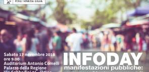INFODAY MANIFESTAZIONI PUBBLICHE – SABATO 17 NOVEMBRE