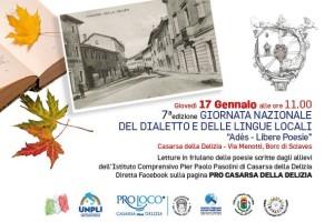 7^ ed. Giornata nazionale del dialetto e delle lingue locali @ Casarsa della Delizia (Pn)