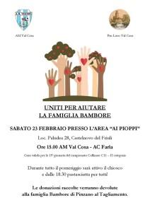 Uniti per aiutare la famiglia Bambore @ Castelnovo del Friuli   Paludea   Friuli-Venezia Giulia   Italia