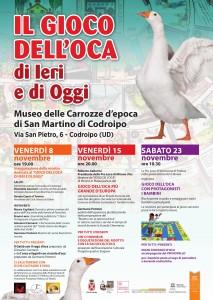 Il gioco dell'Oca di Ieri e di Oggi @ Codroipo (UD) | San Martino | Friuli-Venezia Giulia | Italia
