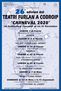 "26^ Teatri Furlan a Codroip ""Carnevâl 2020"" @ Codroipo (UD) | Friuli-Venezia Giulia | Italia"