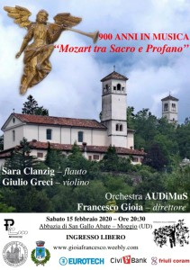 """900 Anni in Musica """"Mozart tra Sacro e Profano"""" @ Abbazia di San Gallo Abate"""