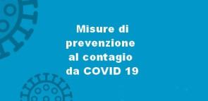 MISURE DI PREVENZIONE DA VIRUS COVID-19