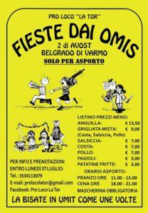 Fieste dai Omis 2020 @ Area festeggiamenti - Belgrado di Varmo | Belgrado | Friuli-Venezia Giulia | Italia