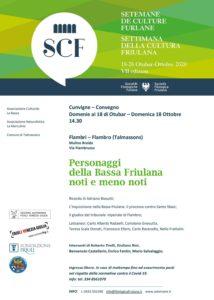 La Settimanadella cultura friulana: Personaggi della Bassa Friulana noti e meno noti @ Mulino Braida | Flambro | Friuli-Venezia Giulia | Italia