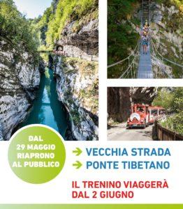 Vecchia strada della Valcellina con il Trenino della Valcellina e il Ponte Tibetano @ Barcis (Pn) | Barcis | Friuli-Venezia Giulia | Italia