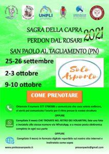 Sagra della Capra - Perdon dal Rosari 2021 @ San Paolo, Morsano al Tagliamento (PN) | Morsano al Tagliamento | Friuli-Venezia Giulia | Italia