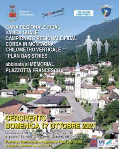 Gara Regionale FIDAL e Memorial Plazzotta Francesco @ Cercivento (UD) | Cercivento | Friuli-Venezia Giulia | Italia